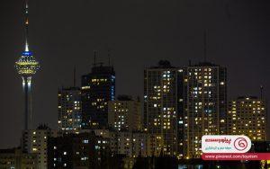 بامهای تهران در شب
